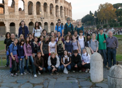 Students visiting Rome